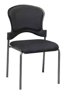 Office Star Proline II® Fabric Visitors Chair with Upholstered Contour Back, Black