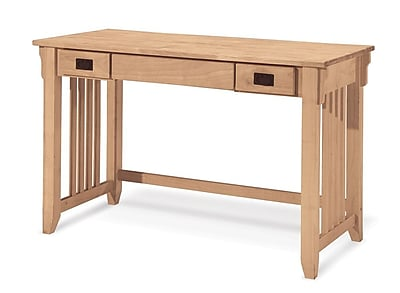 International Concepts Solid Parawood Mission Computer Desk, Unfinished