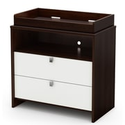 """South Shore™ Cookie 37"""" Laminated Particleboard Changing Table, Mocha"""