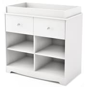 """South Shore™ Little Jewel 35"""" Laminated Particleboard Changing Table, Pure White"""
