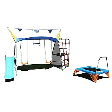 Ironkids Steel Premier 550 Fitness Playground with Rope Climb and Refreshing Mist
