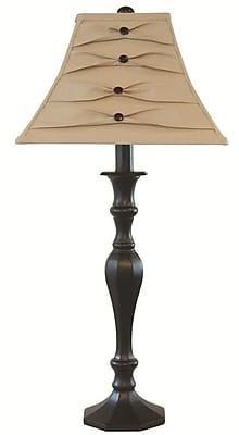 AHS Lighting Tuxedo Table Lamp With Tuxedo Style Fabric Shade, Black