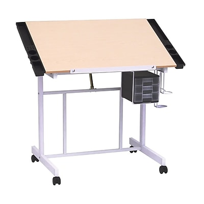 Studio Designs 36''Lx24''D Rectangular Workstation Table, Wood