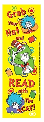 Eureka Dr. Seuss Grab Your Hat Bookmark, Grade PreK - 3rd (EU-834206)