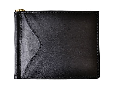 Royce Leather Men's Cash Clip Wallet Black
