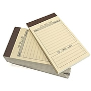 Royce Leather Note Pad Note Jotters, Yellow, 10/Pk