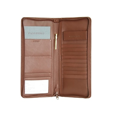 Royce Leather Travel Document Case Tan