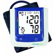 HealthSmart Premium Talking Automatic Digital Blood Pressure Monitor, Bilingual, Blue