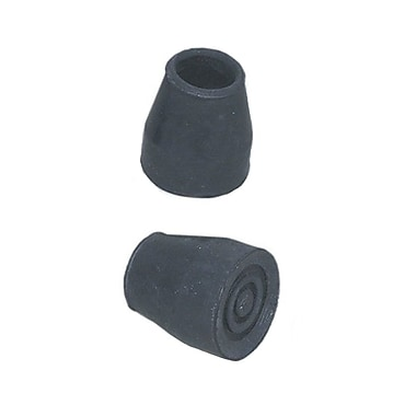 Briggs Healthcare Walker-cane Replacement Tips with Metal Inserts Black