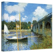 "ArtWall ""The Argenteuil Bridge"" Gallery Wrapped Canvas Arts By Claude Monet"