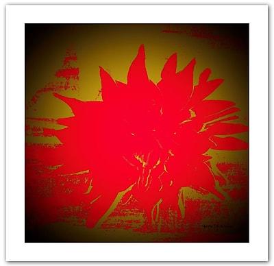 "ArtWall ""Scarlet Splash"" Unwrapped Canvas Art By Herb Dickinson, 14"" x 14"""