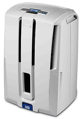 DeLonghi DD70PE 70-Pint Dehumidifier With Patented Pump, White 864053