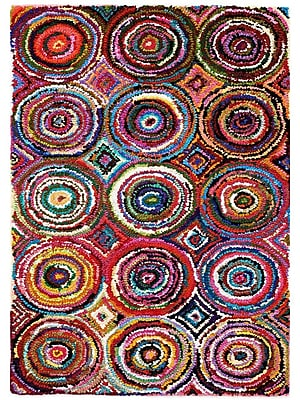 Anji Mountain Tangier Multicolored Area Rug Cotton 8' x 10' Multi