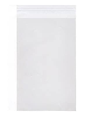 JAM Paper® Cello Sleeves with Self Adhesive Closure, 17 7/16 x 22 1/4, Clear, 1000/carton (17.522.25CELLOB)