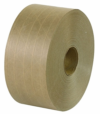 Intertape Kraft Reinforced Tape, 70 mm x 500', 6 Rolls