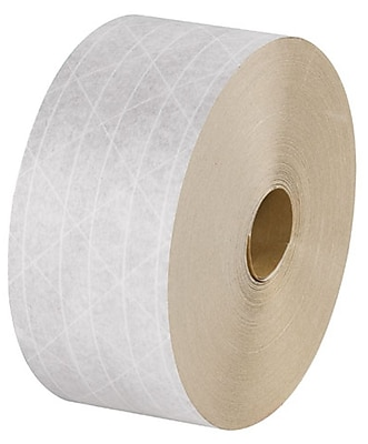 Intertape White Reinforced Tape, 70 mm x 450', 10 Rolls