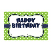 "Teacher Created Resources ""Happy Birthday"" Award, Lime Polka Dots (TCR4771)"