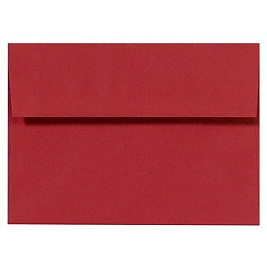 LUX A4 Invitation Envelopes (4 1/4 x 6 1/4), Ruby Red, 250/Box (LUX-4872-18-250)