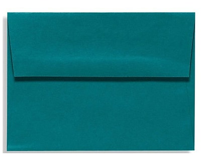 LUX A4 Invitation Envelopes (4 1/4 x 6 1/4) 500/Box, Teal (LUX-4872-25-500)