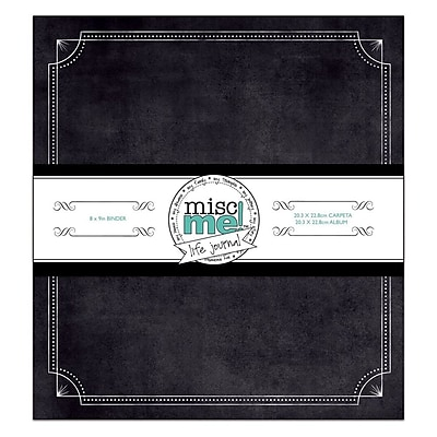 Bo Bunny Misc Me Life Journal Binder, Black