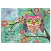 LANG® Petite Note Card, Happy Owl