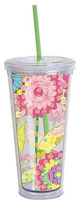 LANG® Double Wall Acrylic 22 oz. Tumbler With Lid and Straw, Songbirds
