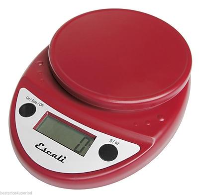 Escali Primo Digital Scale, 11 Lb 5 Kg, Warm Red