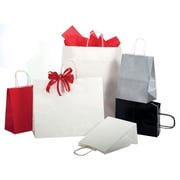 "Shamrock Bonita Kraft Paper 8.37""H x 5.5""W x 3.25""D Precious Metals on Natural Kraft Shopping Bags, Copper Penny, 250/Case"