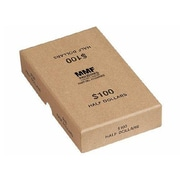 "MMF Industries™ Chipboard Coin Storage Boxes, Buff, $100 Halves, 1 1/2""H x 4 1/8""W x 6 3/4""D"