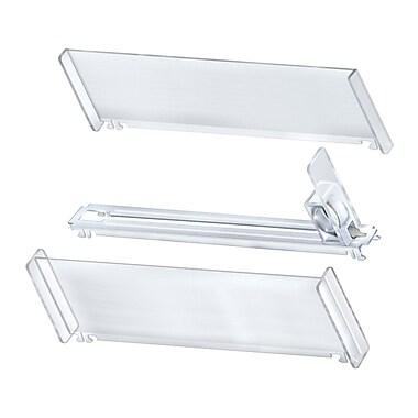 Azar Displays – Ensemble de rails hauts en plastique à poussoirs à ressort, 10 compartiments (225912)