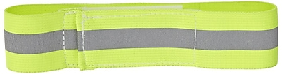Mutual Industries Reflective Elastic Armband, Lime, One Size