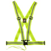 Mutual Industries Reflective Elastic Harness/Suspender, Lime, One Size (14509-0-5)