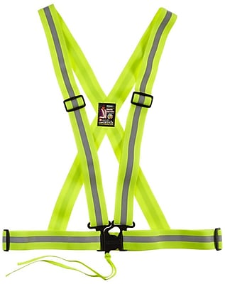 Mutual Industries Reflective Elastic Harness/Suspender, Lime, One Size