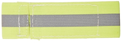 Mutual Industries Reflective Elastic Wristband, Lime, One Size