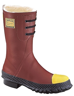 Norcross Safety 6147 Insulated Steel Toe Boots, Red, Size 8