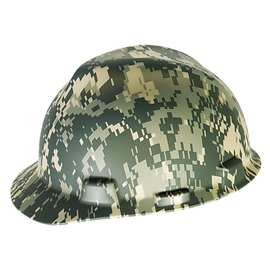 MSA Freedom Series™ Fas-Trac Ratchet Suspension Polyethylene V-Gard Hard Hat, Camouglage