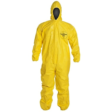 Dupont™ SAFESPEC™ 2.0 Tychem® QC Coverall With Hood, Yellow, 3X