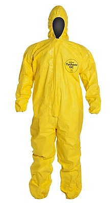 Dupont™ Tychem® QC127S Light Splash Protective Coverall, Yellow, 4X-Large