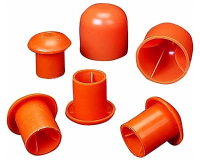 Mutual Industries OSHA Rebar Caps, Orange, Large
