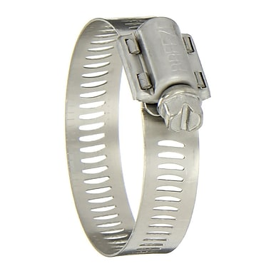 Hy-Gear® 201/301 Stainless Steel 68 Worm Gear Drive Hose Clamp, 1/2 - 1 1/4 in Capacity