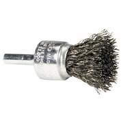 "Weiler® 0.5"" Crimped Wire Solid End Brush"