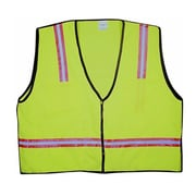 Mutual Industries MiViz High Visibility Surveyor Vest, Lime, Large