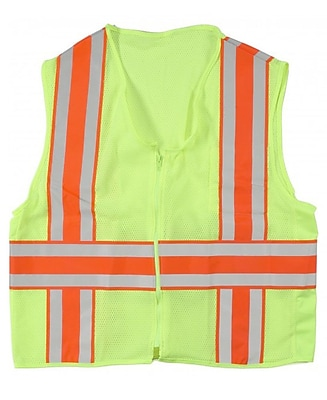 Mutual Industries MiViz ANSI Class 2 High Visibility Deluxe Dot Mesh Safety Vest, Orange, 4XL