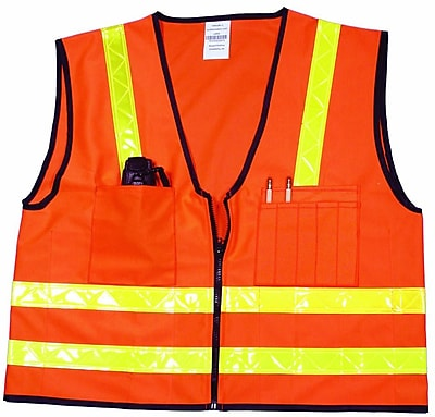 Mutual Industries MiViz High Visibility Surveyor Vest, Orange, 4XL