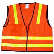 Mutual Industries MiViz High Visibility Surveyor Vest, Orange, Large