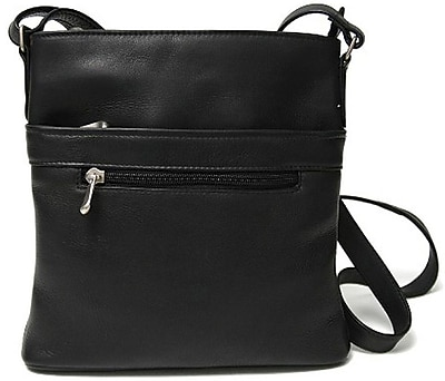 Royce Leather Women's Vaquetta Triple Zip Crossbody