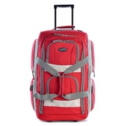 "Olympia Polyester 8-pocket Rolling Upright Duffel Bag 29"", Red"