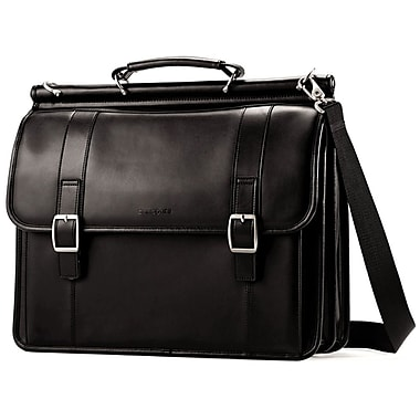 Samsonite Leather Luggage Dowel Flapover Business Case 16