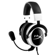 HyperX Cloud Gaming Headset with Microphone, White (KHX-H3CLW)