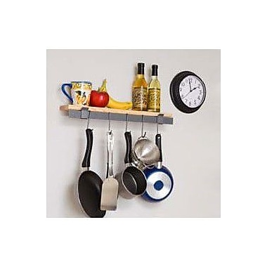Enclume RACK IT UP! Wall Mounted Bar and Bamboo Shelf Pot Rack